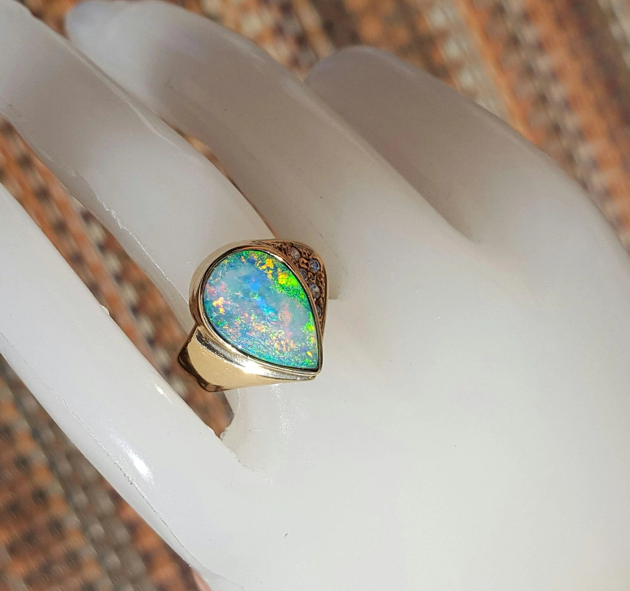 article gemstone stone price black engagement and information value boulder opal rings bracelet carats in australia jewelry