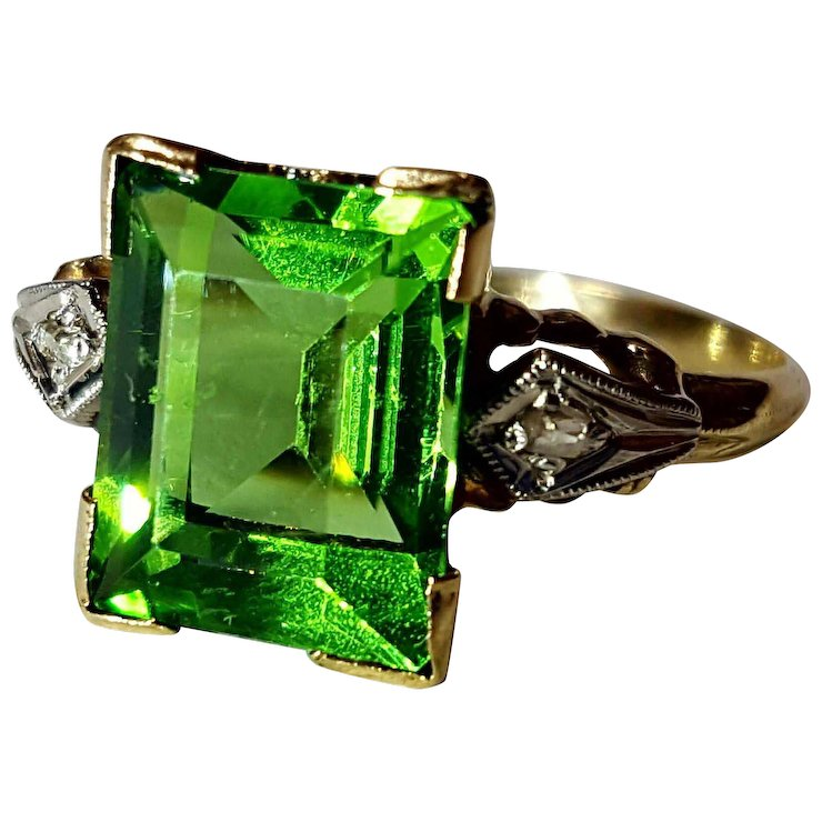 vintage green verdelite f gemstone cindy ring tourmaline natural hold item full