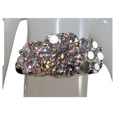 14K Brilliant-Cut VS/H Natural Diamond Cluster Anniversary Ring
