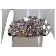 Stunning 14K Brilliant-Cut VS Diamond Cluster Ring Sz 6.75