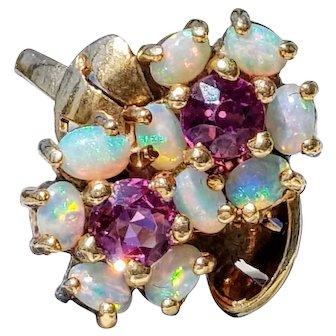 14K Opal Pink Tourmaline Rubellite Ring 6