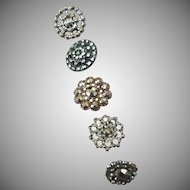 Five Vintage Cut Steel Buttons