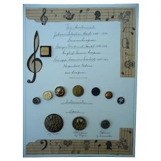Amazing Vintage musical Themed Card of Buttons