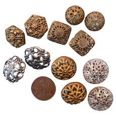 Lot of Pairs of Vintage French Buttons