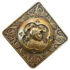 French Depose Vintage Knight and Griffin Button