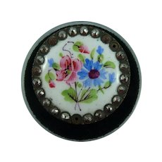 Lovely 1800's Porcelain Button