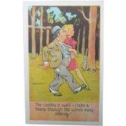 Wonderful Comical Vintage Postcard