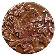 Vintage Victorian Squirrel Button