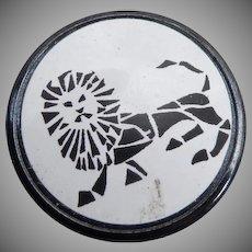 Wonderful Vintage Leo Astrological Button