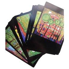 16 Vintage Hundertwasser Postcards