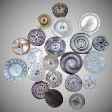 21 Multi toned Vintage Pearl Buttons