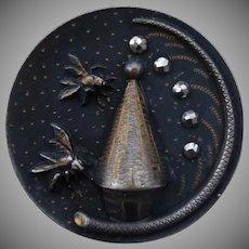 Fantastic Large Vintage Bee Hive Button