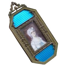 Incredible Framed Antique French 1800's Miniature Painting