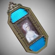 Estate Piece...Incredible Framed Antique French 1800's Miniature Painting