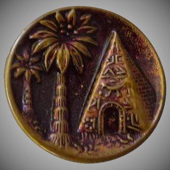 Vintage Pyramid Brass Button
