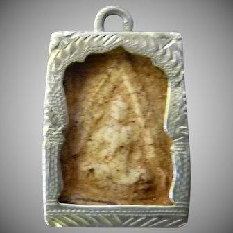 Mystical Vintage Buddha Silver Charm