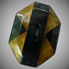 Extra Large Vintage Inlaid Bakelite Button