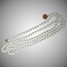 """Estate Item...Gorgeous 50"""" strand of exceptional Cultured Pearls"""