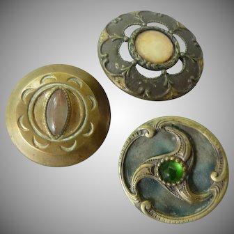 Three Vintage Victorian Buttons