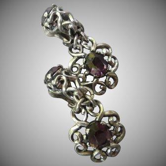 Napier Vintage silver toned clip earrings