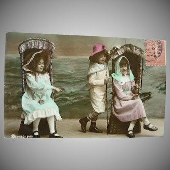 Wonderful Vintage Child Seaside Postcard