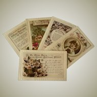 Five Vintage Family Themed Postcards