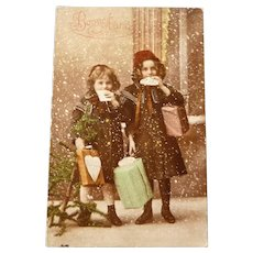 Vintage New Years Real photo Postcard