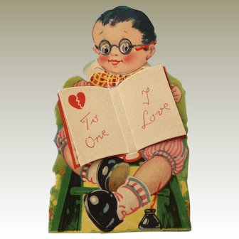 Vintage Mechanical Valentine Postcard