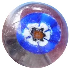 Large Vintage Paperweight Glass Button