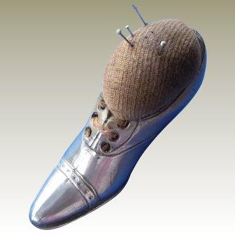 Vintage Metal Shoe Pin Cushion