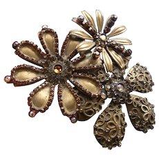 Vintage Extra Large signed Sorrelli Flower Pin