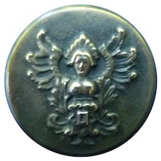 Medium Vintage Brass Goddess Button