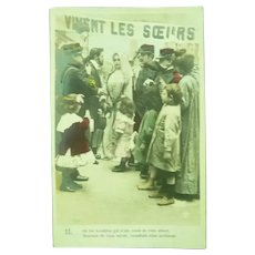 Vintage French Real Photo Postcard of a Nun being Honored