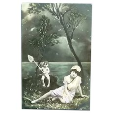 Vintage French Real Photo Fairy Postcard