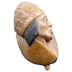 Vintage Carved Native American Nut Doodad
