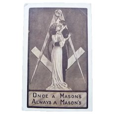 Vintage Mason's Love Postcard