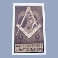 Vintage Masonic Love Postcard