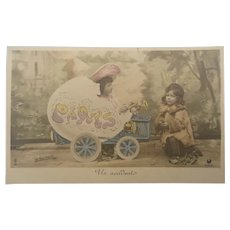 Two Edwardian Real Photo French Easter Postcards
