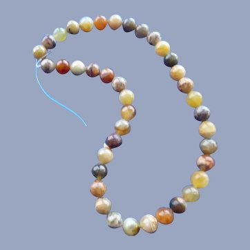 40 agate beads for Creating a Necklace