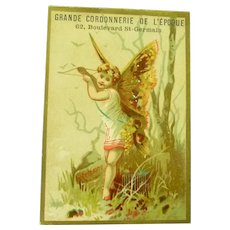 Vintage French Cupid Advertising Trade Card