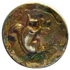 Vintage Metal Squirrel button