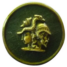 Large Vintage Metal Gods and Griffin Mythical Button