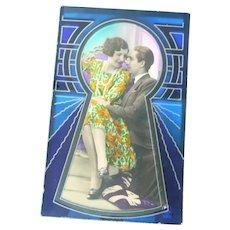 Wonderful Romantic Art Deco Postcard
