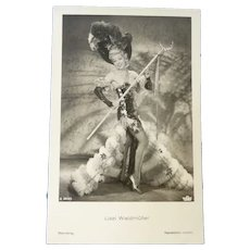 Wonderful Vintage French Real Photo Postcard of Theatrical Lady.