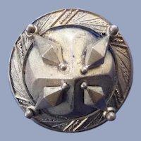 Vintage Large Art Deco Metal Button