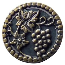vintage Metal Grape Button