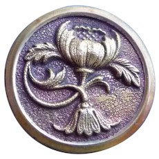 All buttons 20% off the regular price. Large Vintage Arts and Craft Metal Flower Button