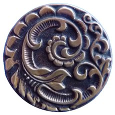 Large Vintage Brass Art Nouveau Designed Button
