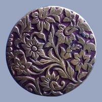 Lovely Vintage Metal Flower Button
