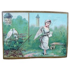 Wonderful Victorian French Nurse Trade Advertising Card